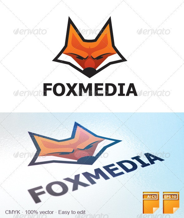 Fox Media Logo - Animals Logo Templates