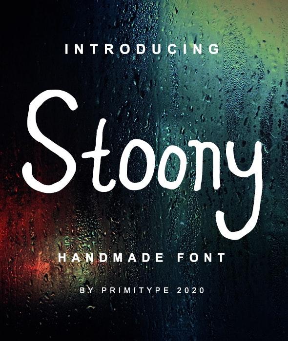 Stoony - Handwriting Premium Font - Handwriting Fonts