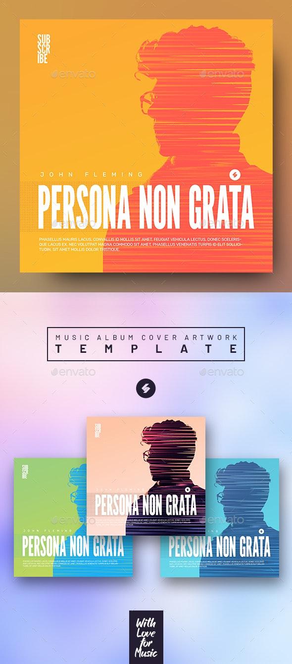 Persona Non Grata - Music Album Cover Artwork Template - Miscellaneous Social Media
