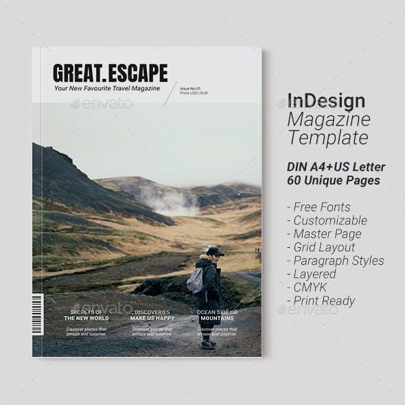 Travel Magazine Template | Great Escape