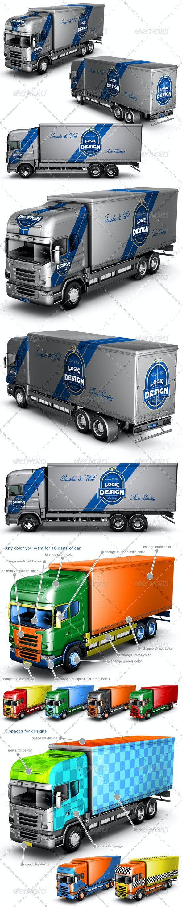 Truck Mock Up - Vehicle Wraps Print