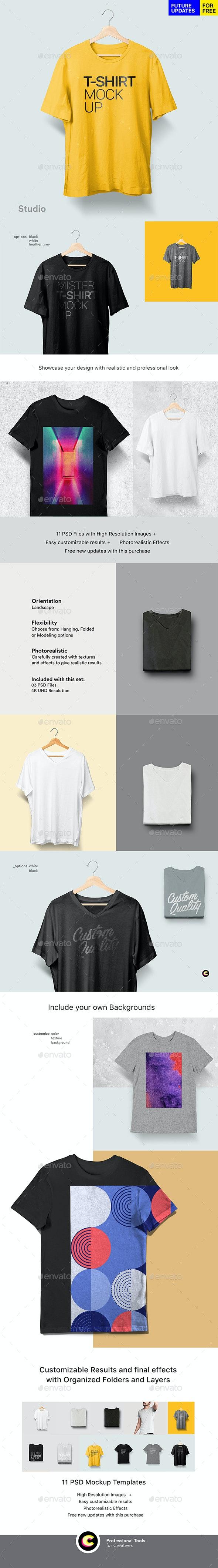 T-shirt Mockup - T-shirts Apparel