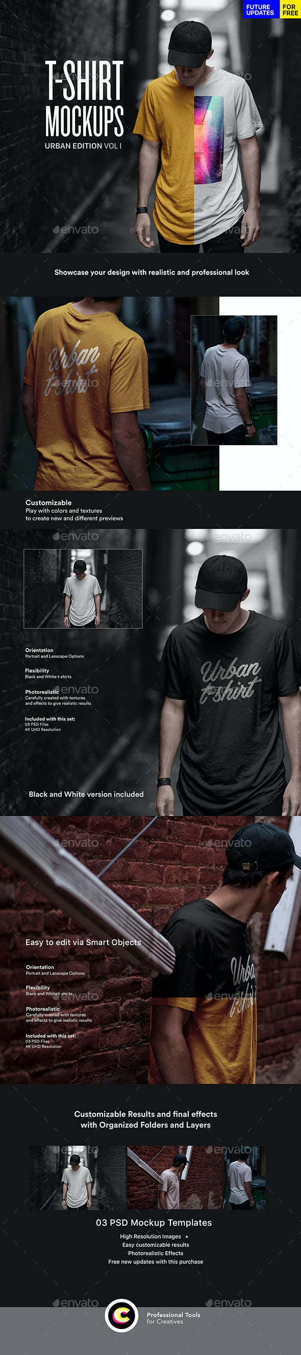 Urban T-Shirt Mockup - T-shirts Apparel