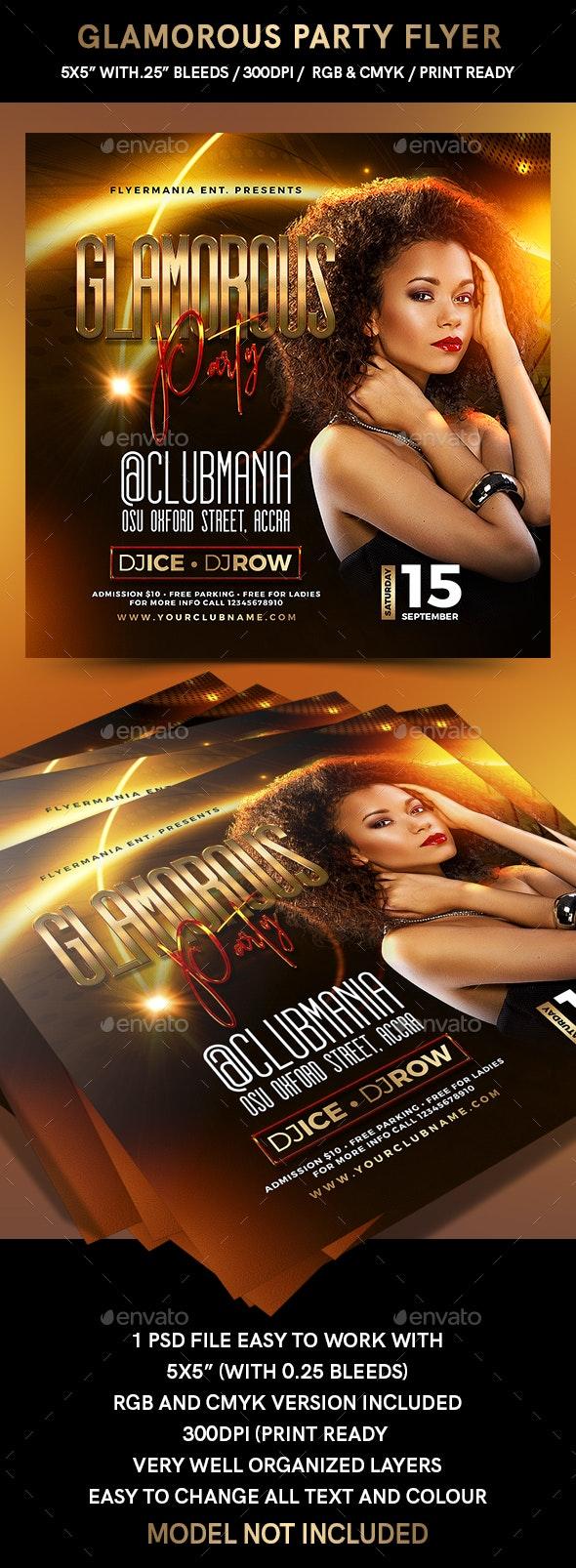 Glamorous Party Flyer - Flyers Print Templates