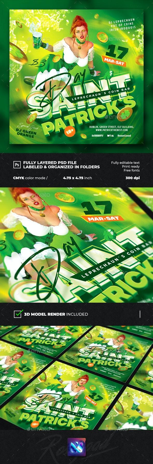 Saint Patricks Day Party Flyer - Events Flyers
