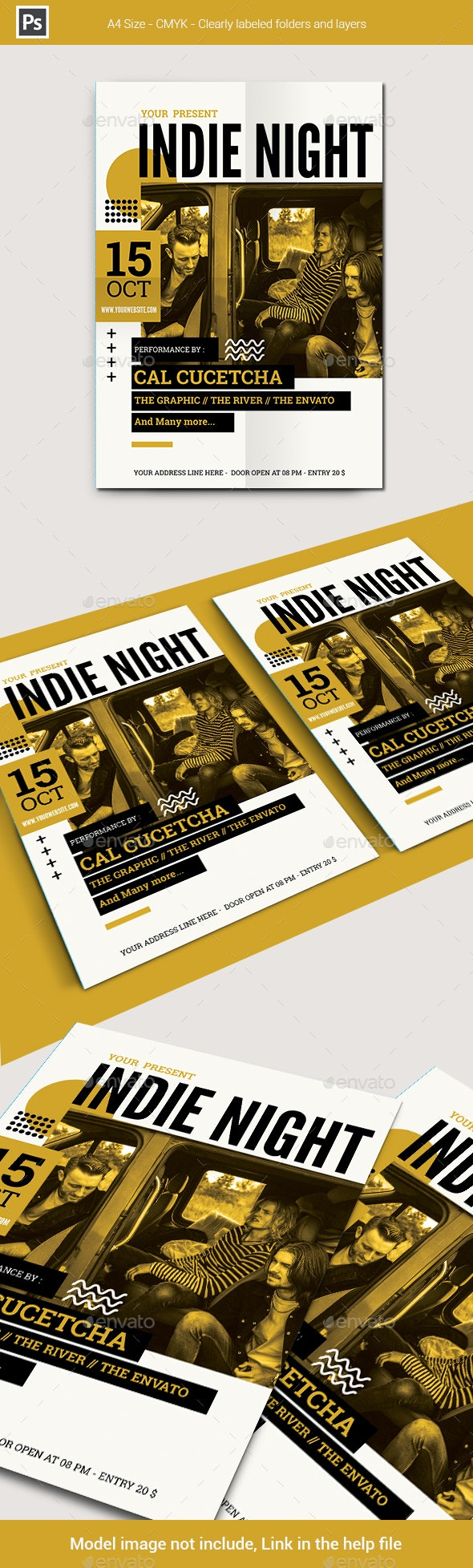 Indie Night Flyer Template - Concerts Events