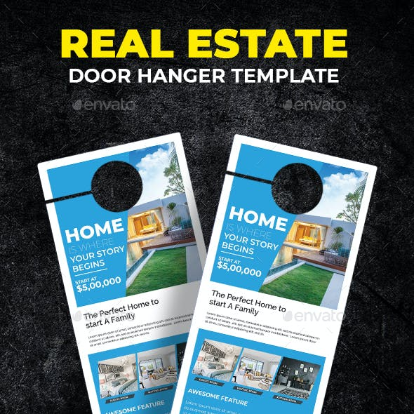 Door Hanger Template Graphics Designs