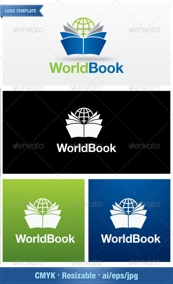 World Book Store - Objects Logo Templates
