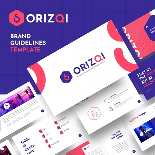 Orizqi - Brand Identity Guidelines Keynote Template