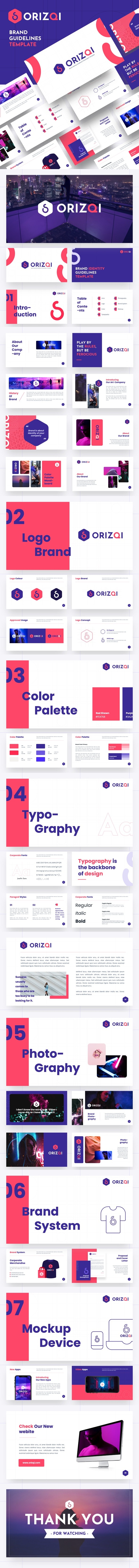 Orizqi - Brand Identity Guidelines Keynote Template - Business Keynote Templates