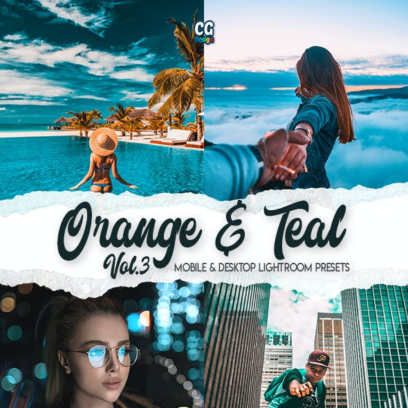 Orange & Teal Vol. 3 - 15 Premium Lightroom Presets