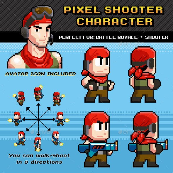 Battle Royale / Shooter Pixel Character