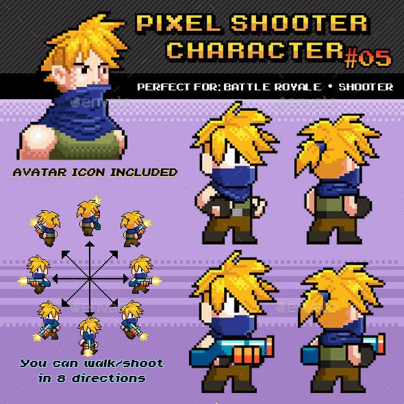 Battle Royale / Shooter Pixel Character Nº 05