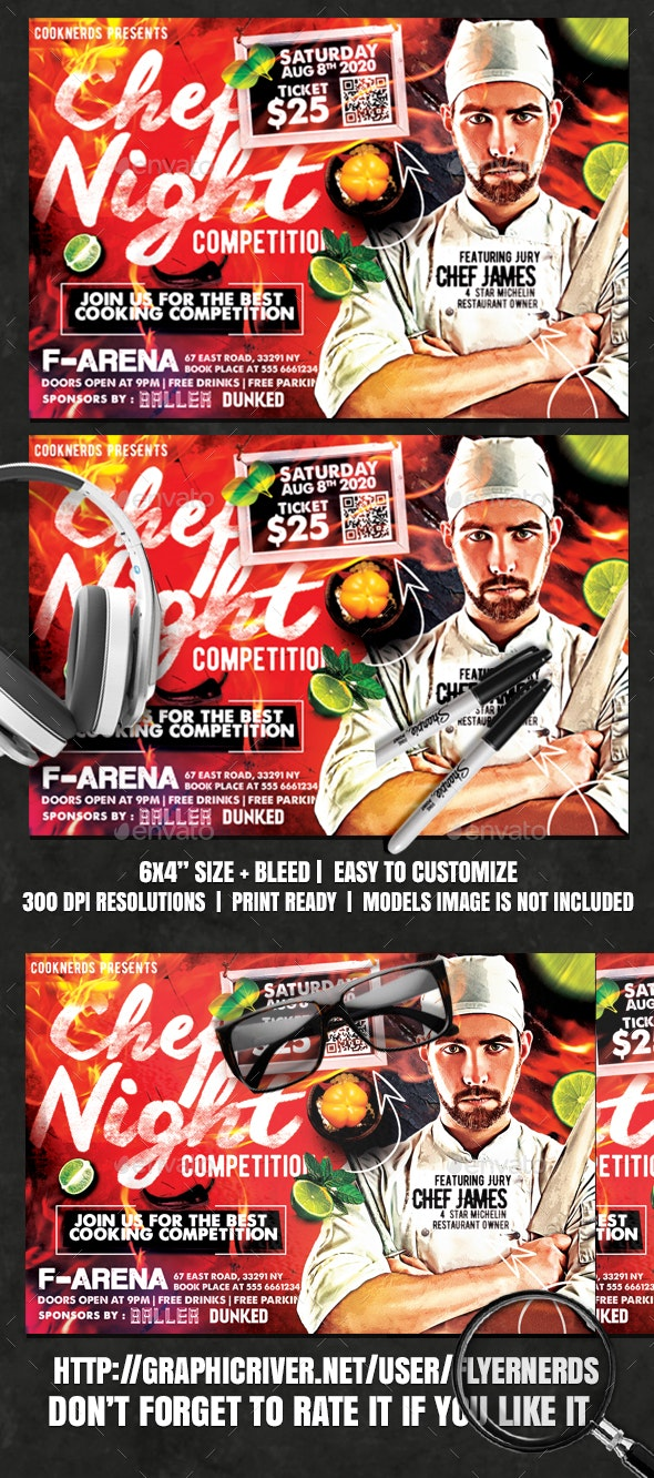 Chef Night Competition Flyer - Events Flyers