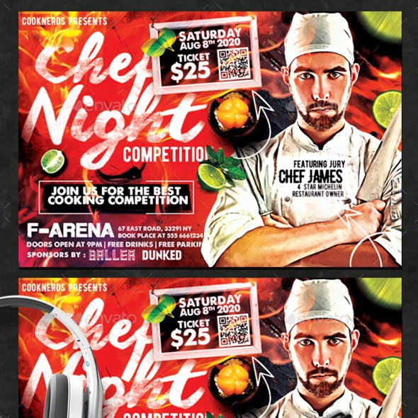Chef Night Competition Flyer