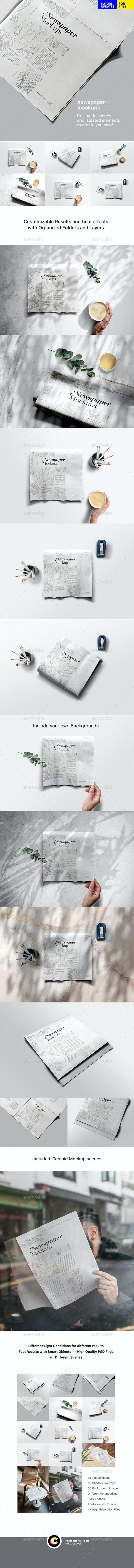 Newspaper Adverts Mockups - Miscellaneous Print