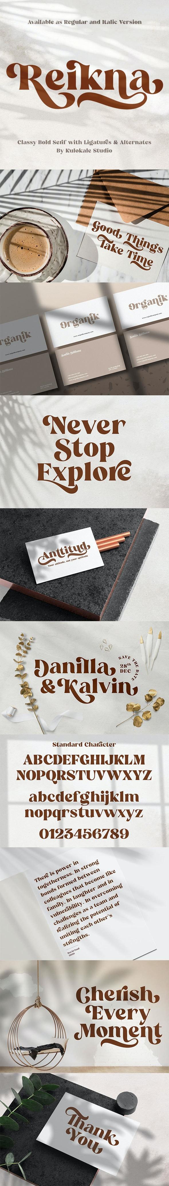 Reikna - Classy Bold Serif - Serif Fonts