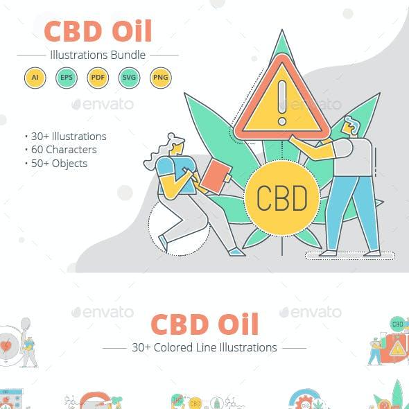 CBD Oil Illustration