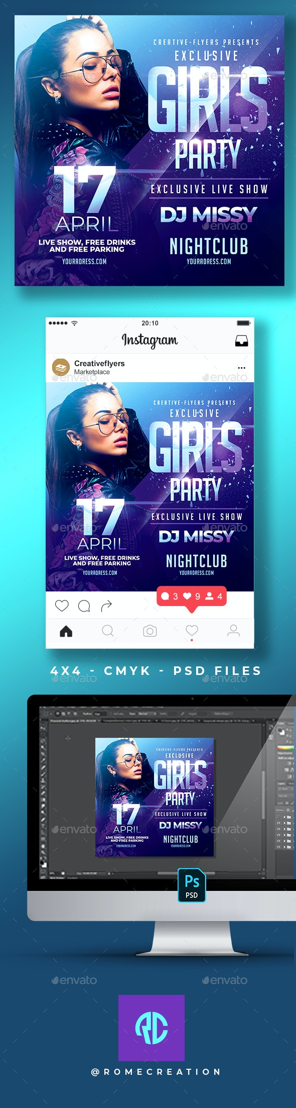 Girls Party | Night Club Flyer - Clubs & Parties Events