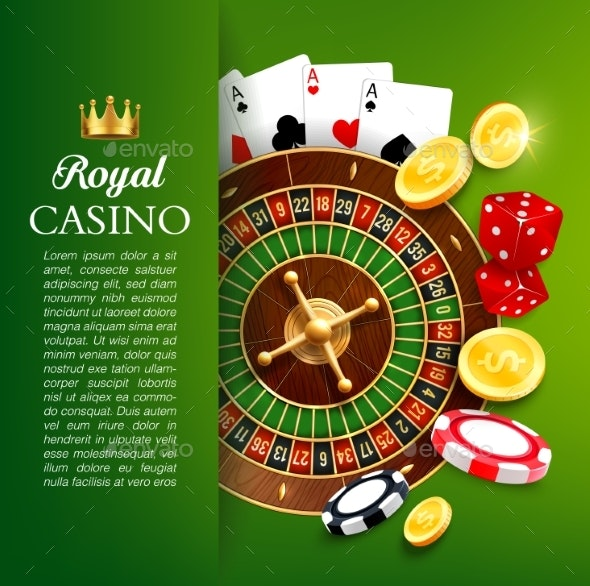 Online Casino Roulette and Chips - Sports/Activity Conceptual