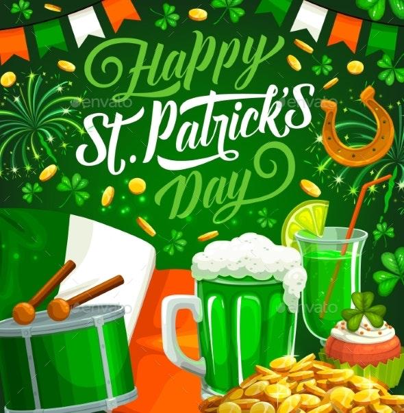 Patricks Day Irish Green Clover - Seasons/Holidays Conceptual