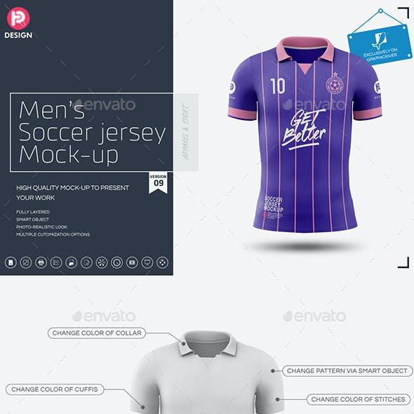 Men's Soccer Jersey Mockup V9