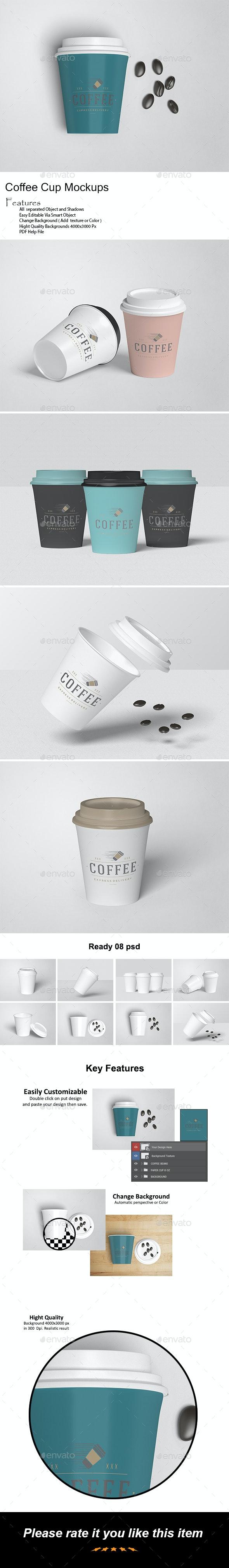 Coffee Cup Mock-Ups - Food and Drink Packaging