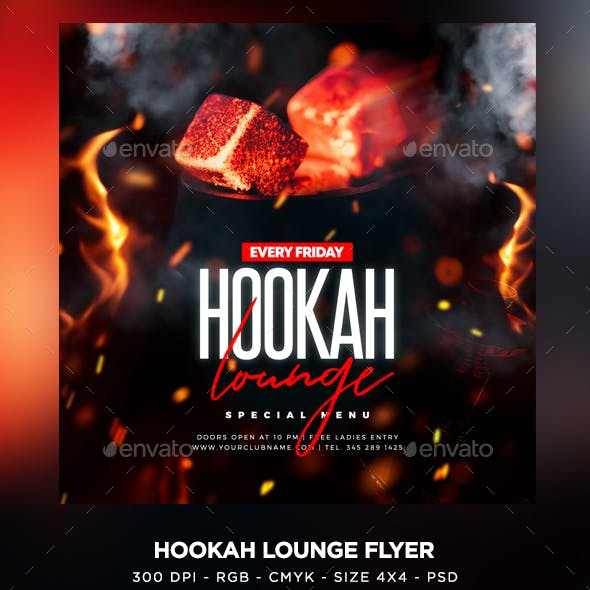 Hookah Lounge Flyer
