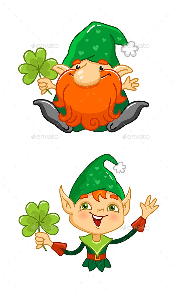 Cartoon Elf and Dwarf Characters - Miscellaneous Characters