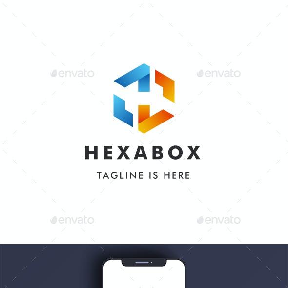 Letter H - Hexa Box Logo