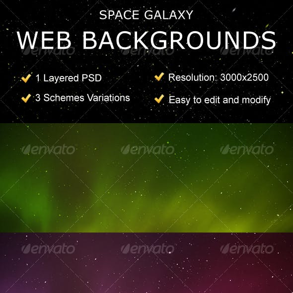 Space Galaxy Web Backgrounds