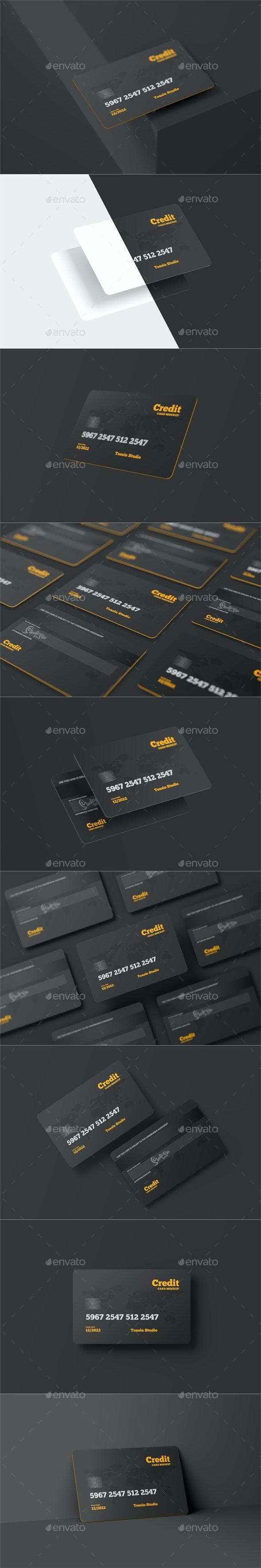 Credit Cards / Gift Cards Mockup - Print Product Mock-Ups