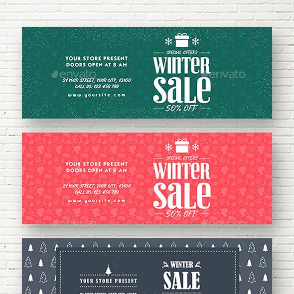 Winter Sale Web Sliders