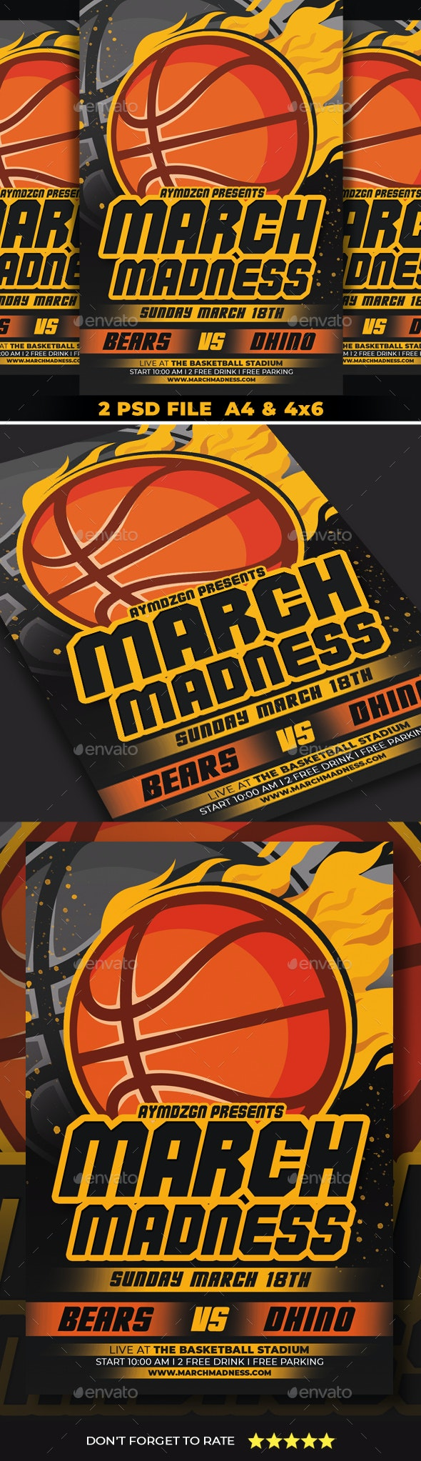 March Madness Flyer - Sports Events