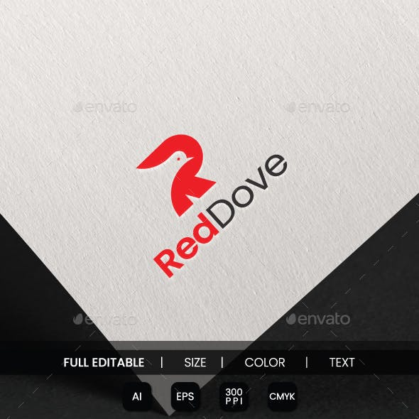 Red Dove Logo Template / Letter R