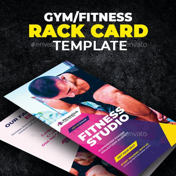 Fitness Rack Card Template