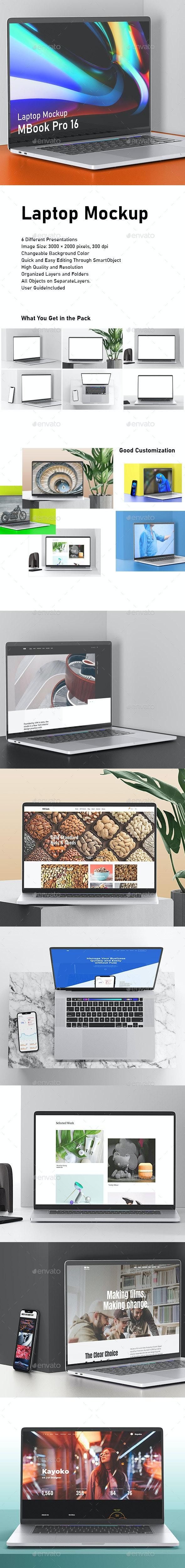 Laptop Mockup - Displays Product Mock-Ups