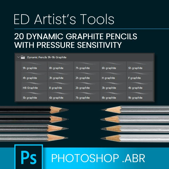 20 Dynamic Graphite Pencil Brushes