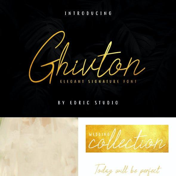 Ghivton Signature Font