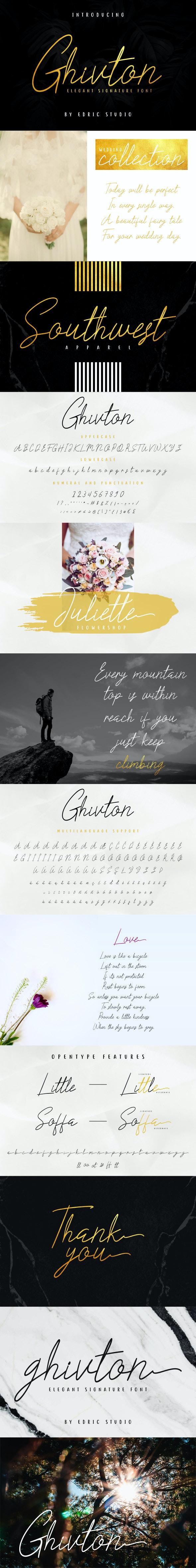 Ghivton Signature Font - Handwriting Fonts