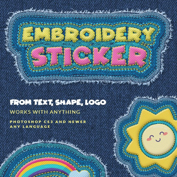 Embroidery Sticker - Photoshop Action