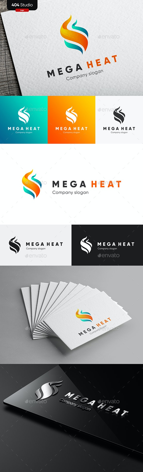 Mega Heat - Flame logo - Abstract Logo Templates
