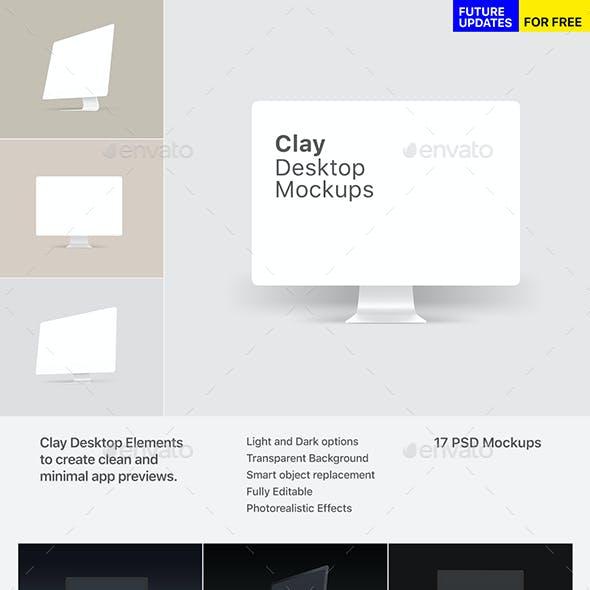 Clay Desktop Mockups