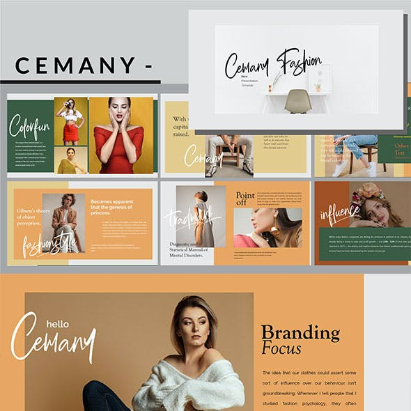 Cemany - Stylish Fashion Powerpoint Template