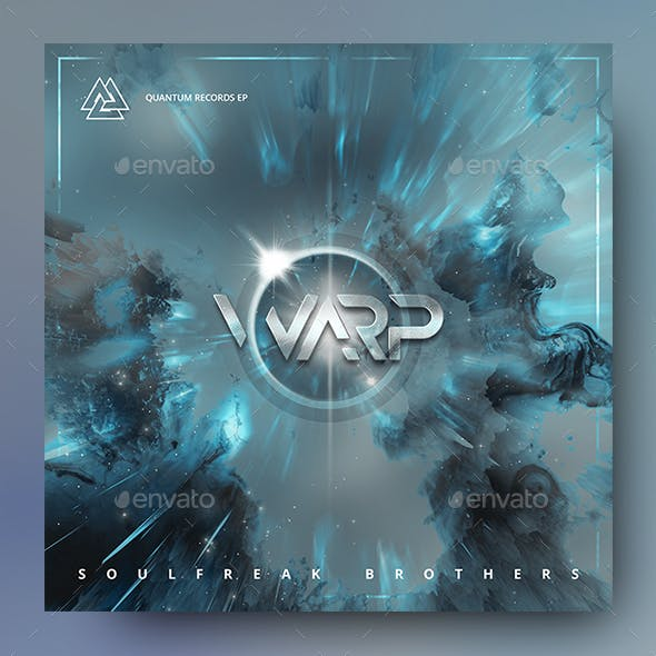 Warp - Electronic Music Album Cover Template
