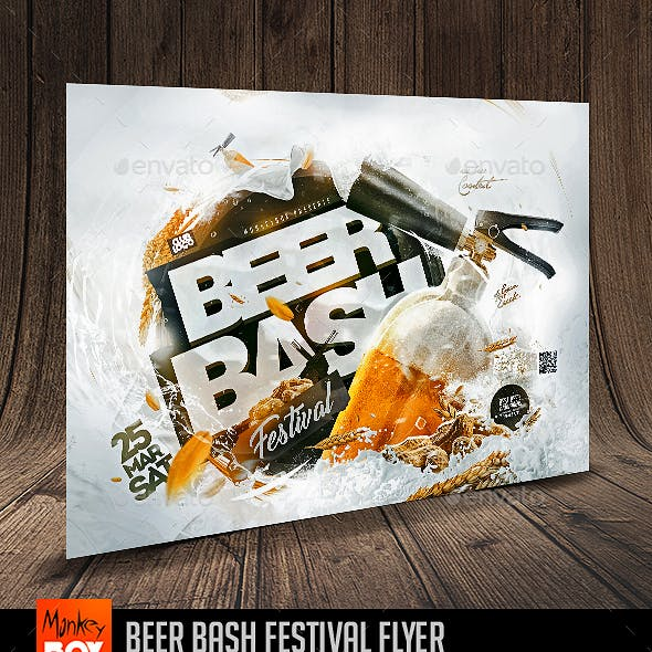 Beer Bash Festival Flyer
