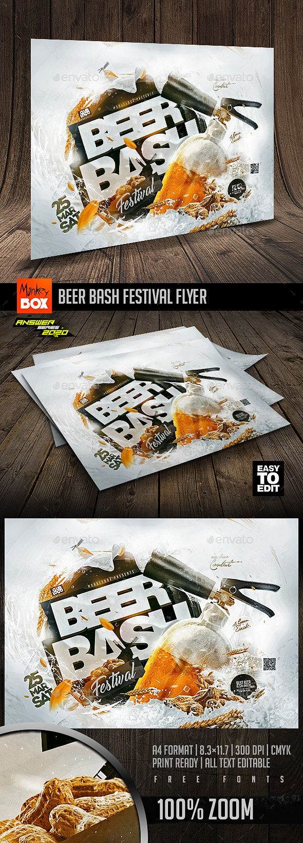 Beer Bash Festival Flyer - Clubs & Parties Events