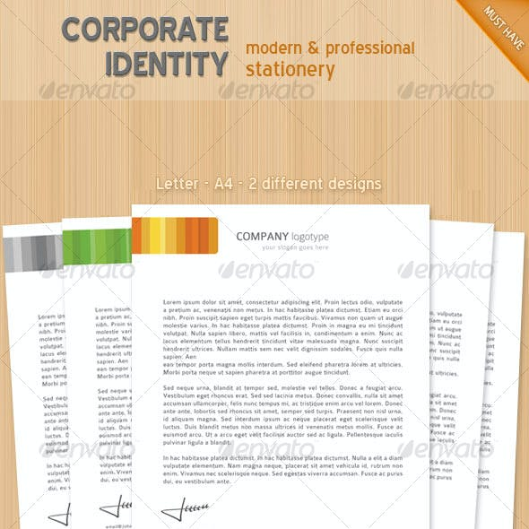 Colorful corporate identity stationary