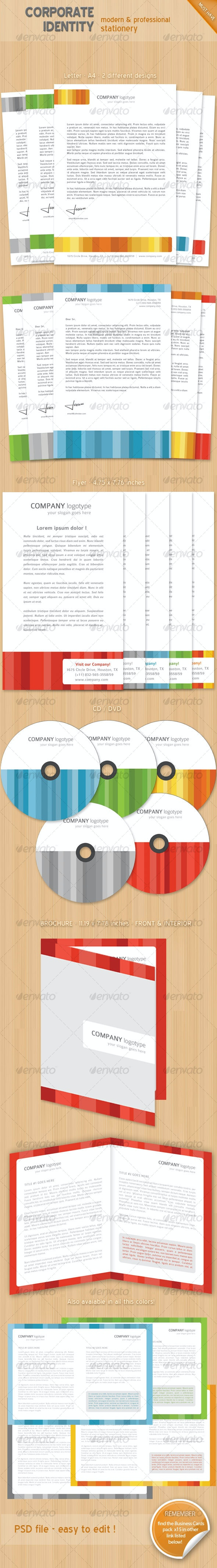 Colorful corporate identity stationary  - Stationery Print Templates