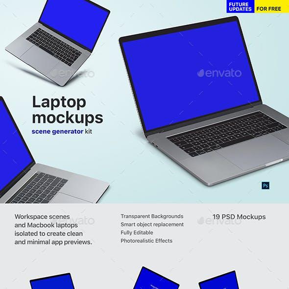 Notebook - Laptop Mockup